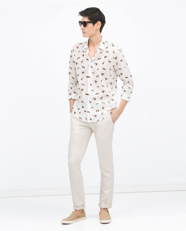 Chemise imprimée à motifs safari - Zara