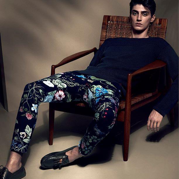Pantalon fleuri - Gucci