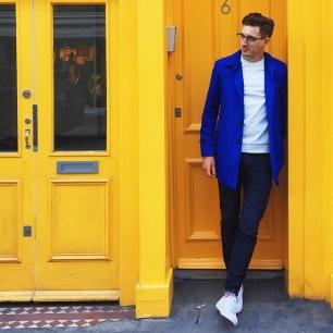 Veste bleue - Instagram: @brightbazaar