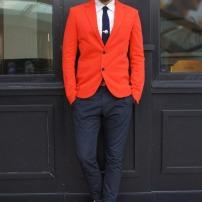 Veston rouge - Zara (crédits: chictopia.com)